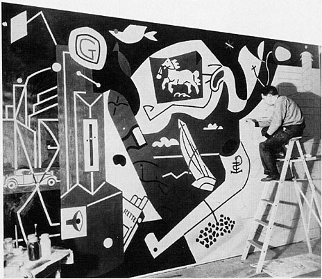 Stuart Davis at Work on Men